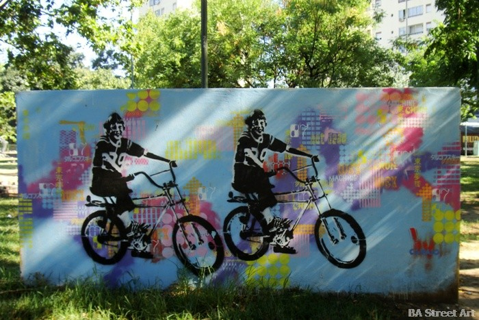 mejor por bici buenos aires street art cabaio stencil buenosairesstreetart.com