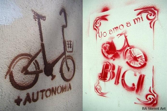 bici estenciles street art graffiti buenos aires buenosairesstreetart.com