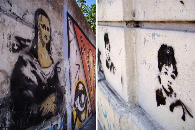 mona lisa graffiti audrey hepburn buenos aires street art buenosairesstreetart.com