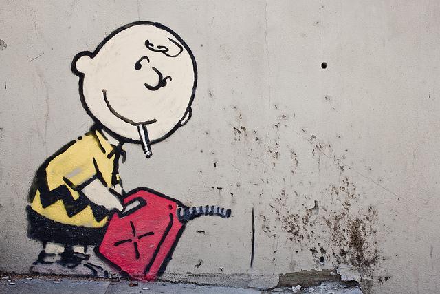Banksy Charlie Brown Firestarter Sunset Boulevard Los Angeles B. Land