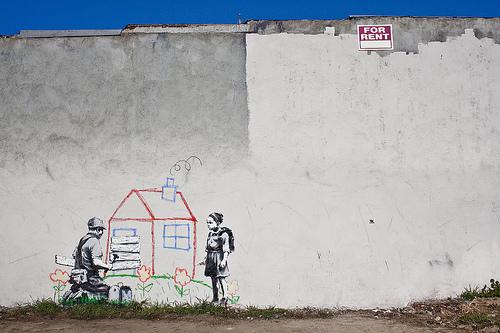 Banksy crayon house los angeles BA Street Art buenosairesstreetart.com