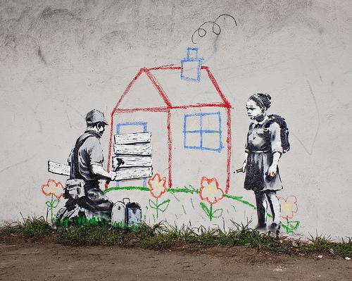 Banksy street art Los Angeles crayon house BA Street Art buenosairestreetart.com