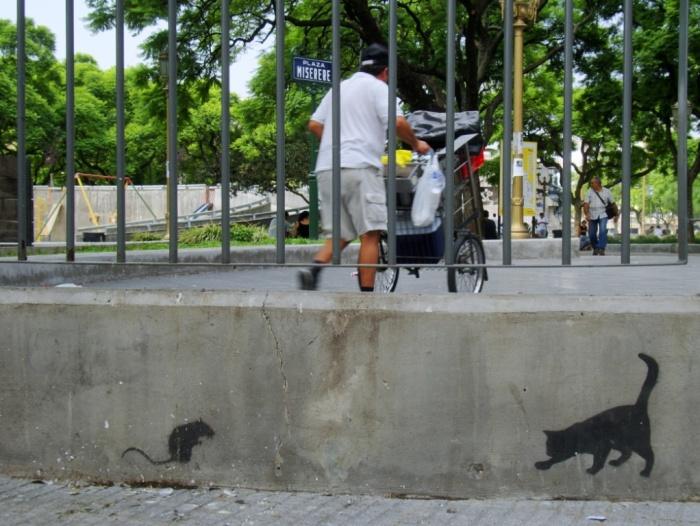 tanque stencil rat cat stencil buenos aires street art tour buenosairesstreetart.com