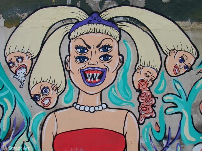 Mondo Lila y Anchu buenos aires street art graffiti tour buenosairesstreetart.com