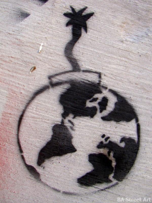earth time bomb environment graffiti buenos aires street art © buenosairesstreetart.com
