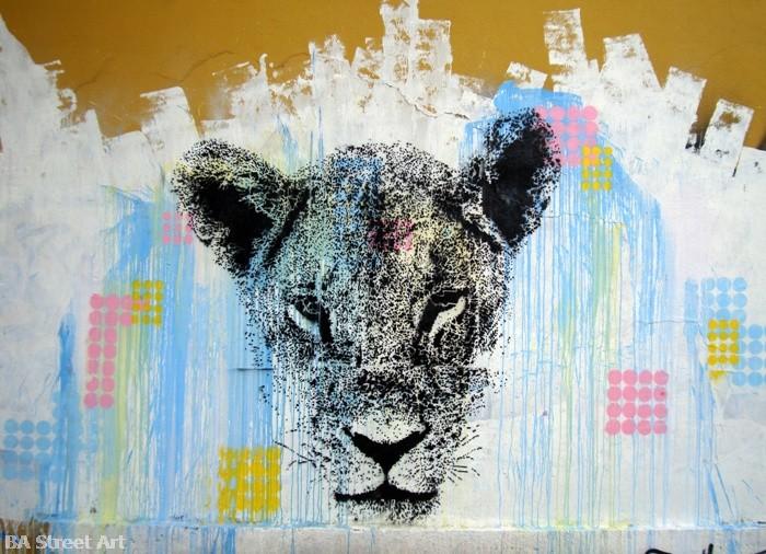 Cabaio Stencil mural buenos aires street art BA Street Art buenosairesstreetart.com