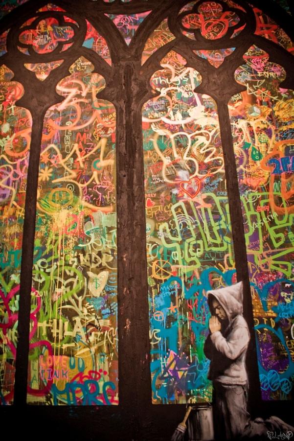 banksy stained glass buenos aires street art buenosairesstreetart.com