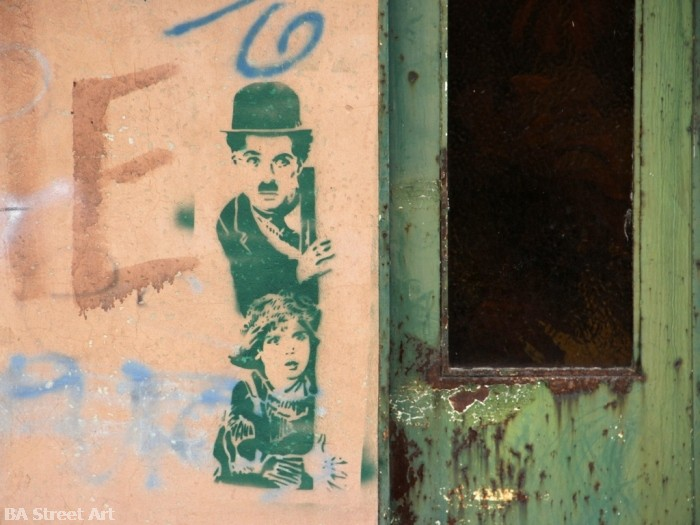 buenos aires graffiti tour charlie chaplin stencil © buenosairesstreetart.com