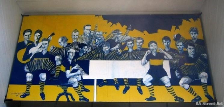 Boca Juniors graffiti la boca buenos aires argentina © buenosairesstreetart.com