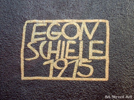 Triángulo Dorado buenos aires street art Egon Schiele painter BA Street Art Tours © buenosairesstreetart.com