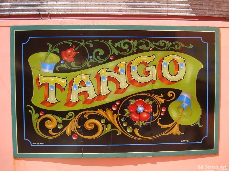 Fileteado writing tango buenos aires porteño street art tour buenosairesstreetart.com