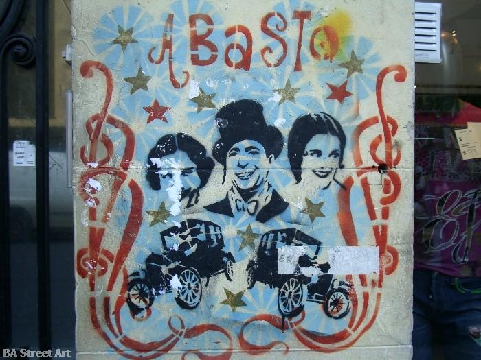 Carlos Gardel abasto buenos aires murales stencil buenosairesstreetart.com BA Street Art Tours