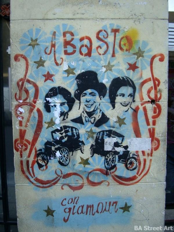 Carlos Gardel abasto buenos aires street art tour murales stencil buenosairesstreetart.com estencil