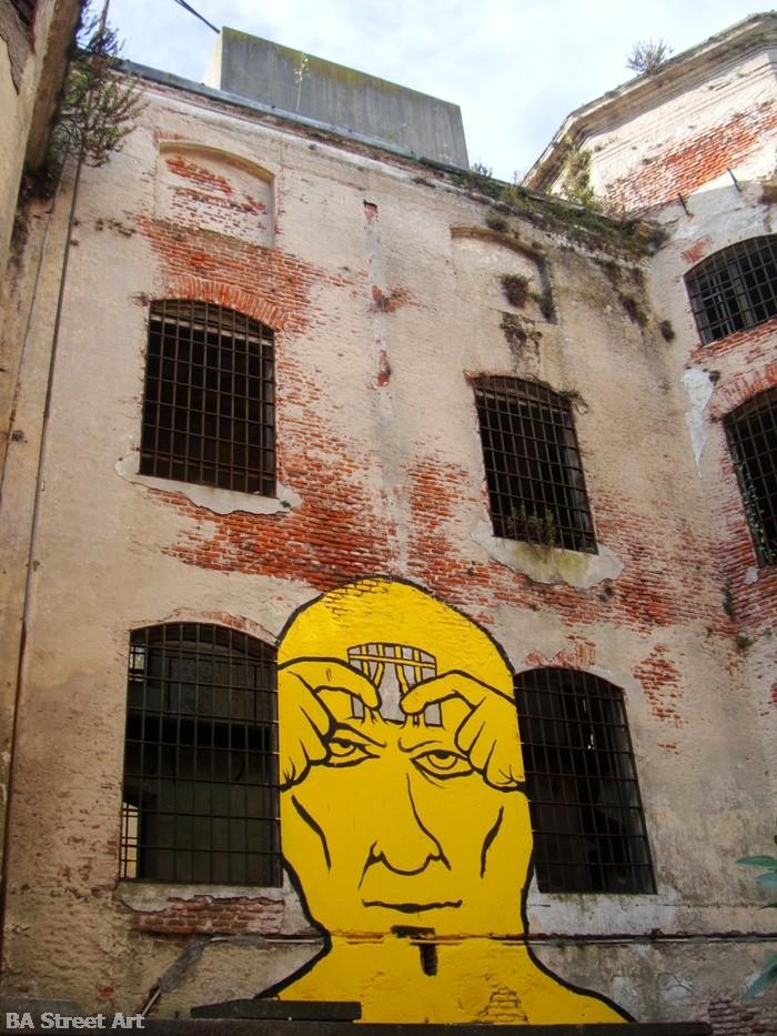 miguelete carcel montevideo uruguay gualicho street artist intervenciones buenos aires street art tour buenosairesstreetart.com