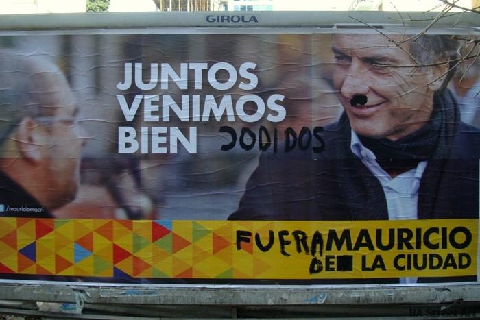 graffiti buenos aires naríz roja elecciones argentina macri culture jamming © buenosairesstreetart.com