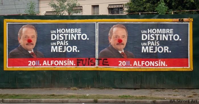 ricardo alfonsin graffiti buenos aires naríz roja elecciones argentina culture jamming © buenosairesstreetart.com