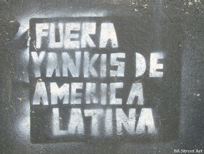 Anti USA graffiti street art buenos aires © buenosairesstreetart.com