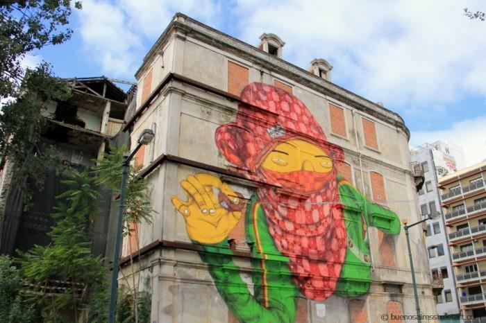 Os Gemeos brazilian twins Lisboa graffiti crono festival buenos aires © buenosairesstreetart.com