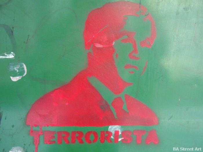 Bush graffiti buenos aires George W Bush Terrorista © buenosairesstreetart.com BA Street Art Tours