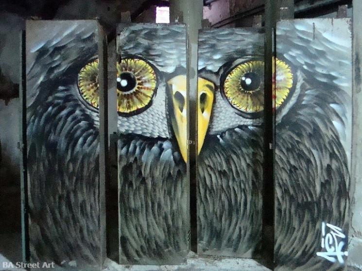 owl graffiti buenos aires street art tour icei buenosairesstreetart.com BA Street Art