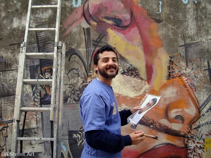 Ever artista callejero street artist buenos aires street art tour argentina © buenosairesstreetart.com