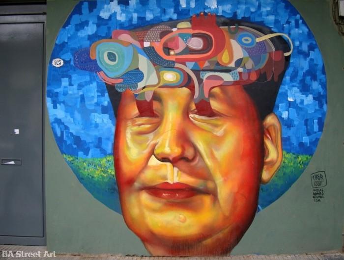 Mao Tse Tung graffiti chairman mao street art ever artist buenos aires street art tour © buenosairesstreetart.com - Copy