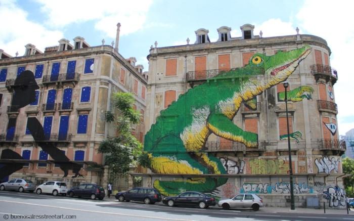 Sam3 and Ericailane Lisboa street art graffiti © buenosairesstreetart.com