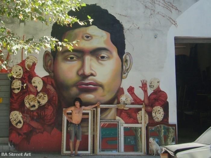 ever street artist buenos aires street art murales © buenosairesstreetart.com BA Street Art Tours