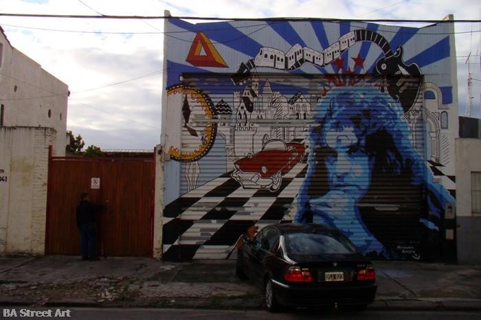 mural de pappo napolitano en la paternal buenosairesstreetart.com artista alejandro amaro