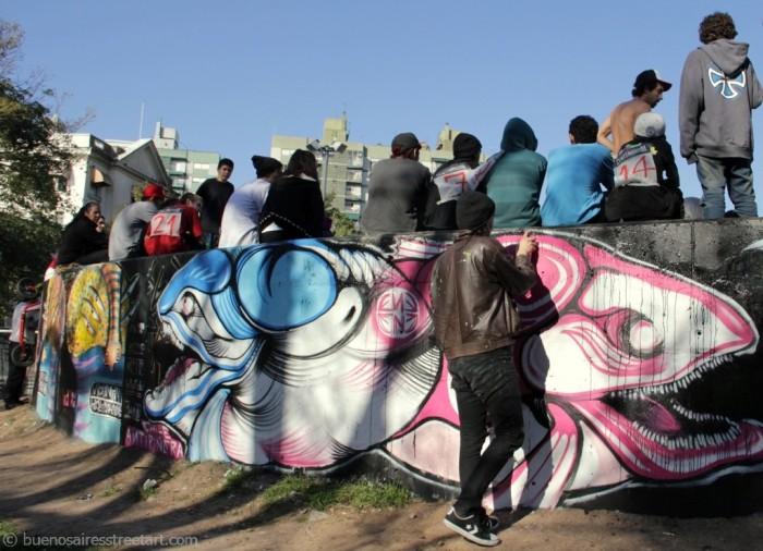 buenos aires graffiti skate park ene ene tatuajes chile © buenosairesstreetart.com