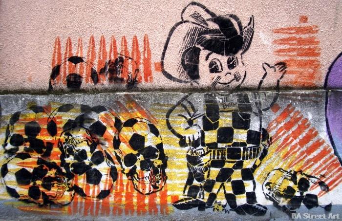 futbol para todos copa del mundo 1978 argentina gauchito graffiti buenos aires buenosairesstreetart.com