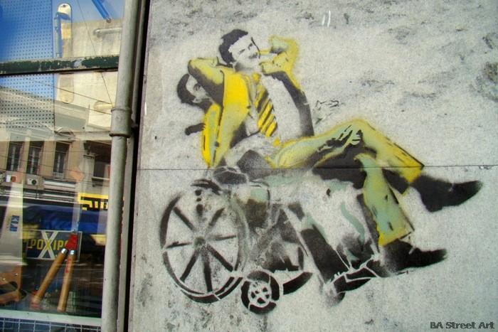 gabriela michetti mauricio macri stencil graffiti buenos aires propaganda anti macri stencil bs as buenosairesstreetart.com