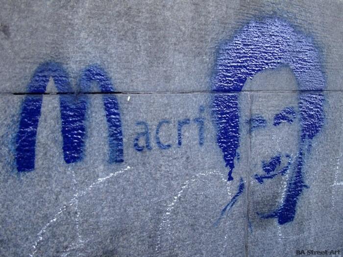 mcdonald's graffiti buenos aires anti macri stencil bs as buenosairesstreetart.com