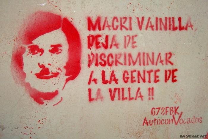 micky vainilla stencil graffiti buenos aires macri buenosairesstreetart.com