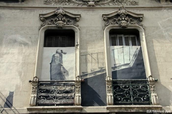 banksy argentina man wearing gas mask buenos aires street art © buenosairesstreetart.com