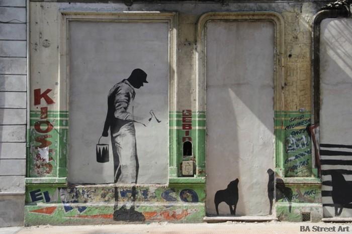 banksy buenos aires man roller street art © buenosairesstreetart.com