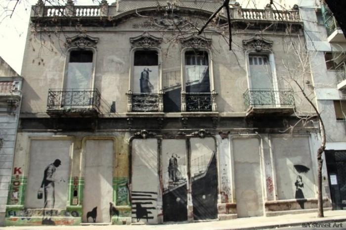 banksy buenos aires graffiti house san telmo street art photos © BA Street Art buenosairesstreetart.com