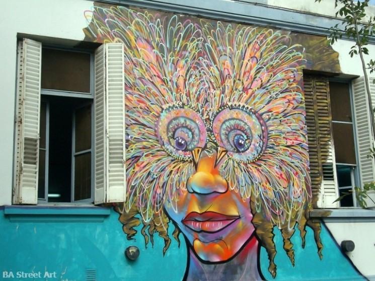 graffiti tour buenos aires Charquipunk la robot de madera buenos aires street art buenosairesstreetart.com