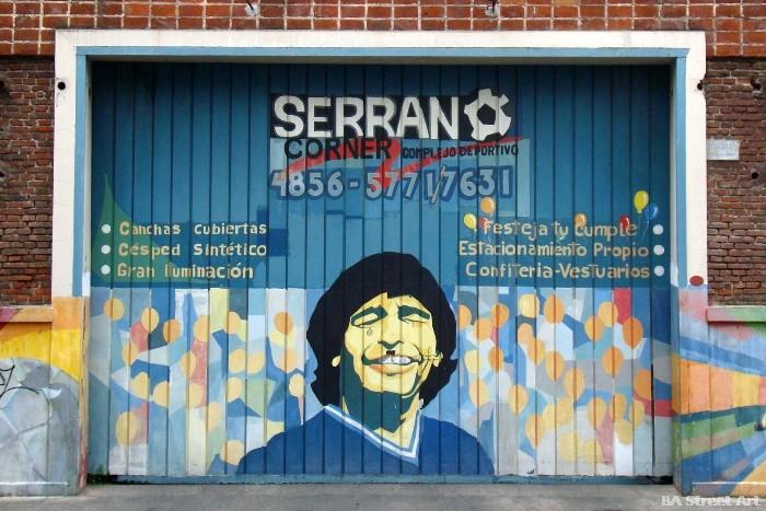 serrano futbol maradona mural villa crespo buenos aires buenosairesstreetart.com