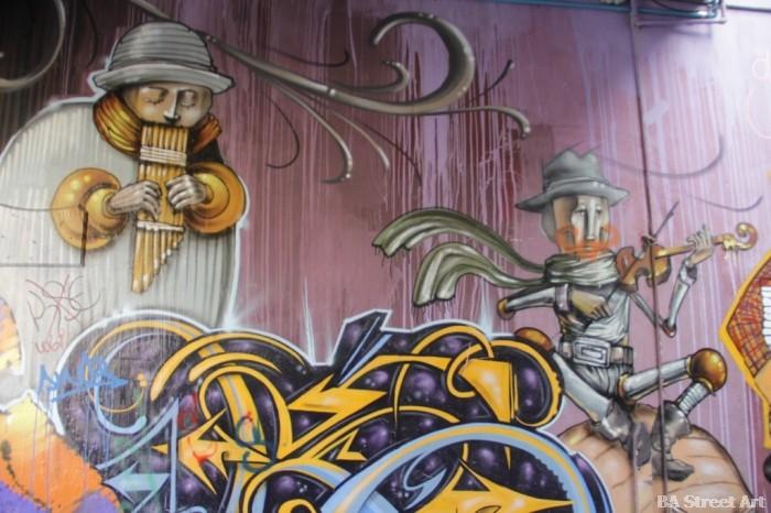 valparaiso street art Jaz graffiti Fisek, Inti and Charquipunk buenosairesstreetart.com