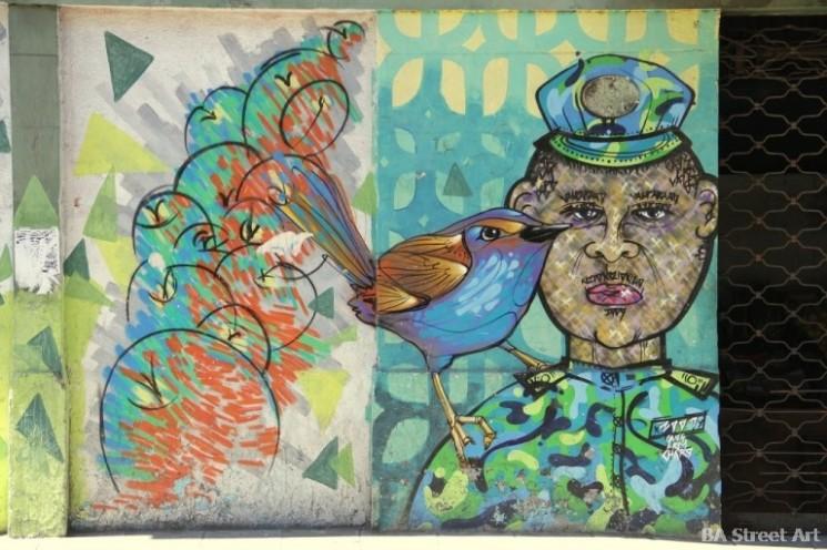 birds graffiti charquipunk la robot de madera chile valparaiso graffiti buenosairesstreetart.com