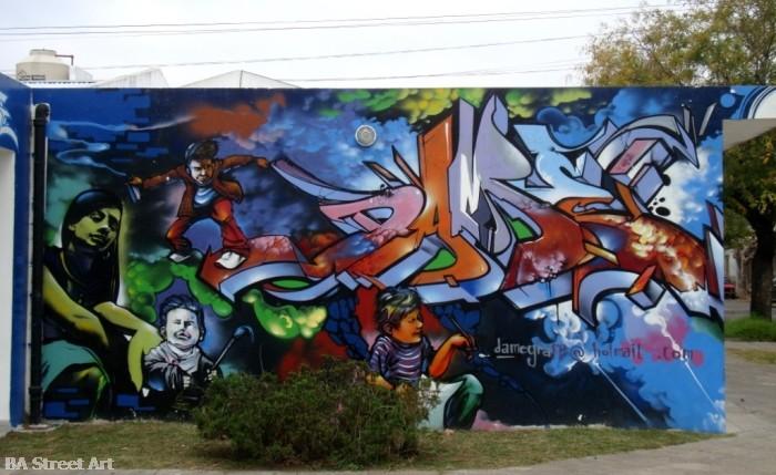 dame graff graffiti zona oeste damian morales buenos aires street art