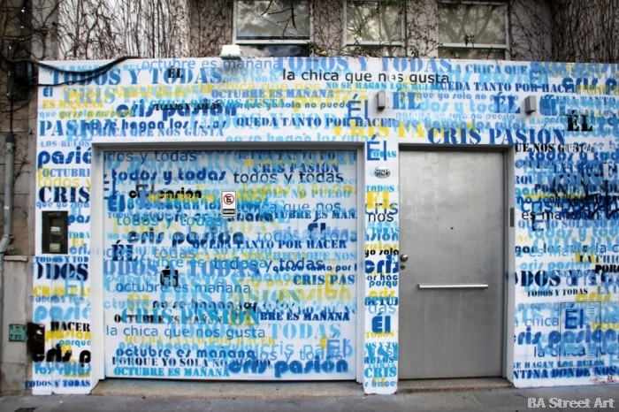 cristina kirchner graffiti buenos aires house palermo buenosairesstreetart.com