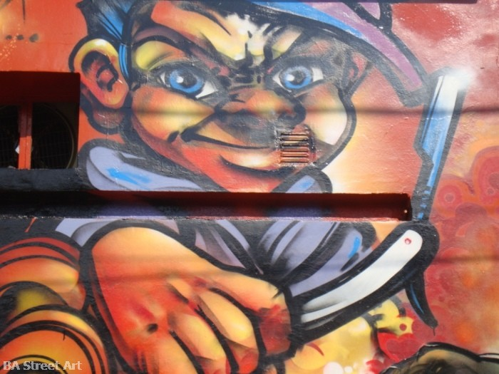 damian morales graffiti artist urban art tours buenos aires © buenosairesstreetart.com