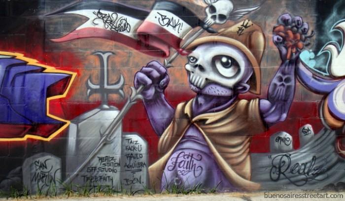 Halloween Graffiti From Buenos Aires Ba Street Art