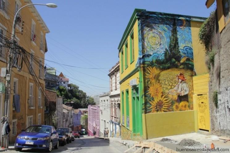 hostal girasoles valparaiso street art chile buenosairesstreetart.com