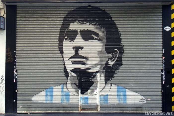 maradona graffiti street art buenos aires buenosairesstreetart.com diego maradona stencil mural