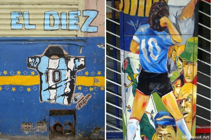 maradona graffiti buenos aires street art tour buenosairesstreetart.com