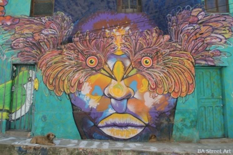 Chile graffiti Charquipunk and La Robot de Madera street art buenosairesstreetart.com