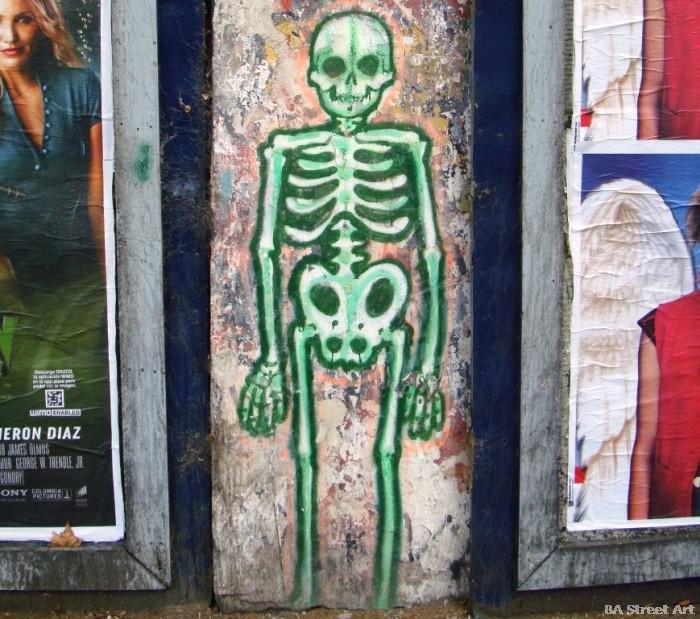 skeleton graffiti buenos aires halloween buenosairesstreetart.com